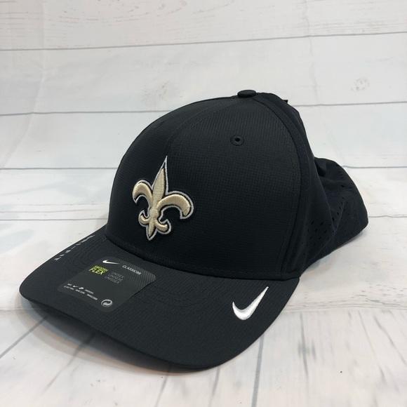 info for 64a8e fc8b8 Adult Nike New Orleans Saints Swoosh Flex Cap NFL
